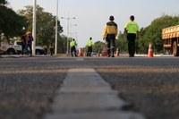 Blitz educativa leva orientações sobre os cuidados no trânsito para motociclistas em Palmas