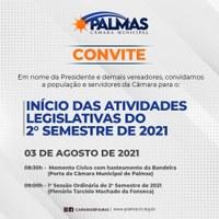 Câmara de Palmas iniciará atividades do segundo semestre nesta terça-feira