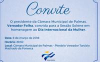 Câmara de Palmas realiza sessão solene alusiva ao Dia da Mulher