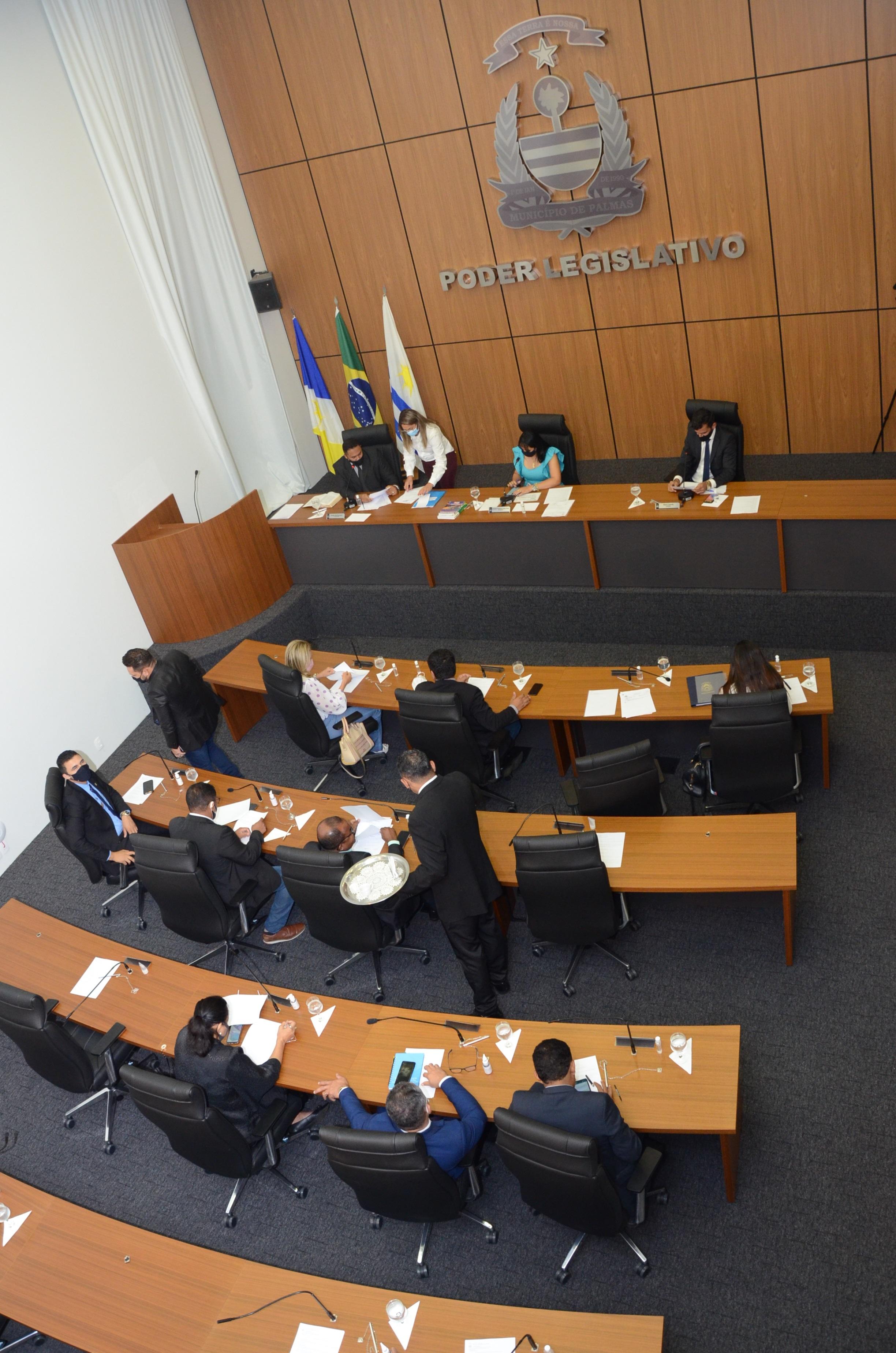 Câmara Municipal de Palmas realizará sessões uma vez por semana, às terças-feiras