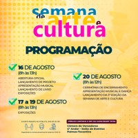 II Semana de Arte e Cultura da Câmara de Palmas tem início na próxima segunda-feira