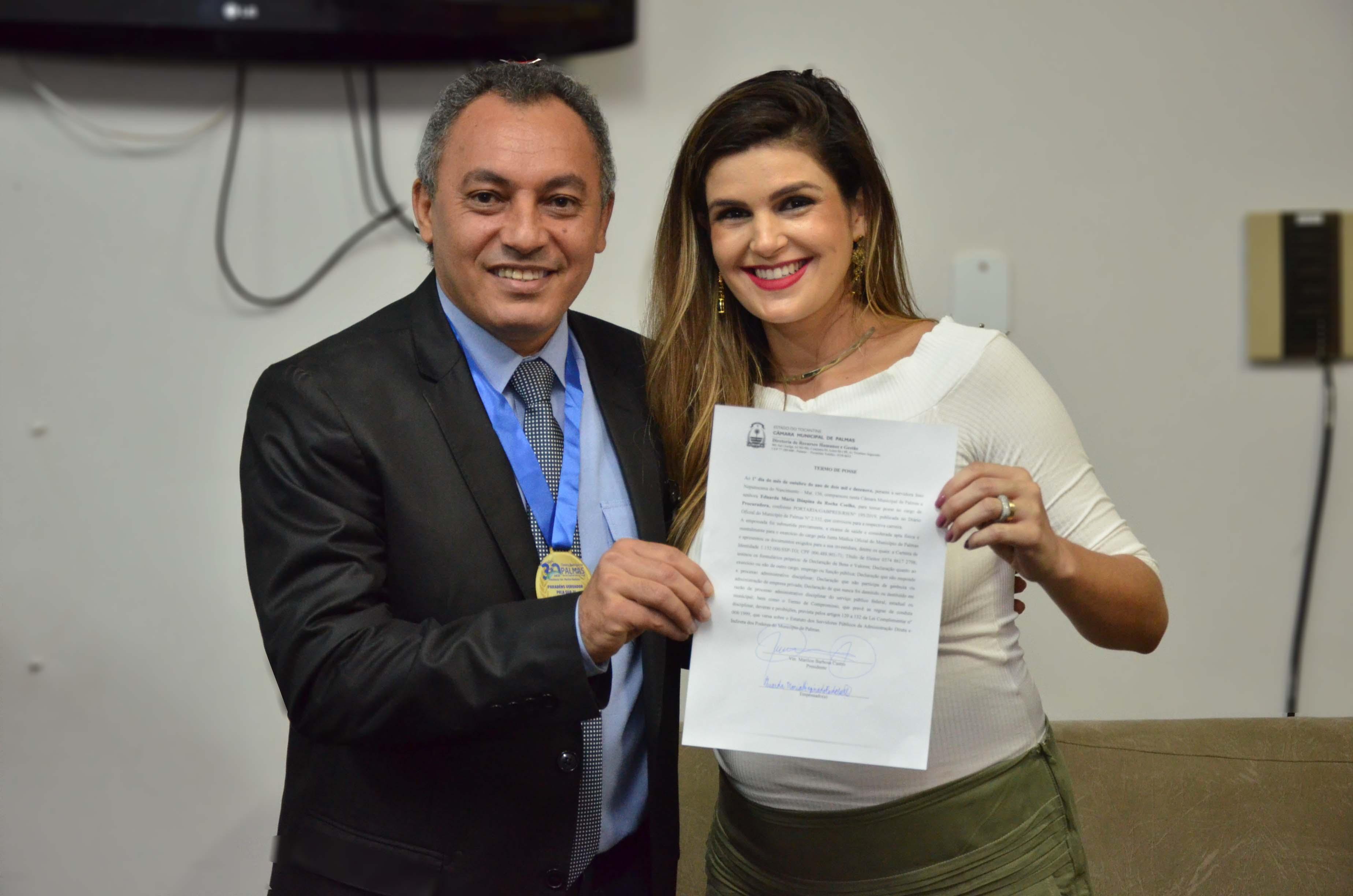 Procuradora toma posse na Câmara de Palmas